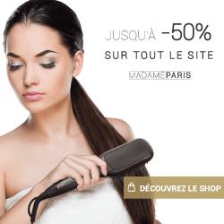 Promotions sur les brosses lissantes et fers à lisser madameparis.fr