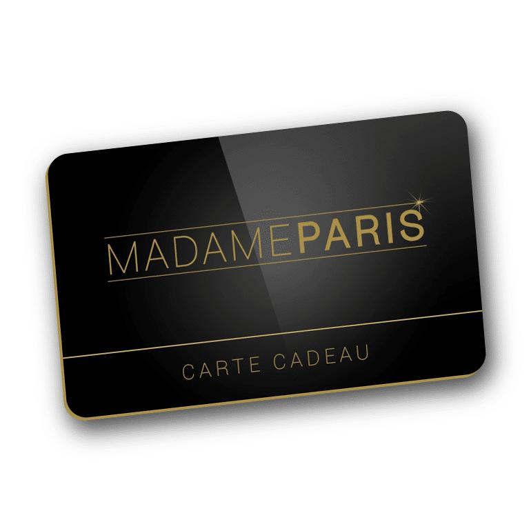 offrir une carte cadeau madameparis 20 30 50 80 ou 100. Black Bedroom Furniture Sets. Home Design Ideas