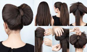 tutoriel coiffures chignon nœud