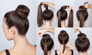 tutoriel coiffures chignon avec tresse