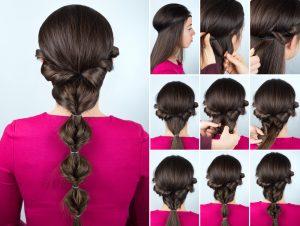 tutoriel coiffures avec headband et queue de cheval avec elastiques