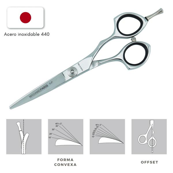 Tijeras para el pelo – Acero inoxidable japonés 440 - 5,5´